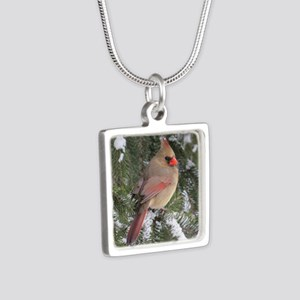 FemCd10x10 Silver Square Necklace