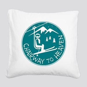 Chairway to Heaven Square Canvas Pillow