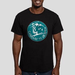 Chairway to Heaven Men's Fitted T-Shirt (dark)