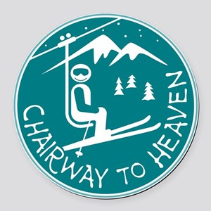 Chairway to Heaven Round Car Magnet