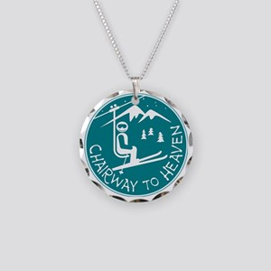 Chairway to Heaven Necklace Circle Charm