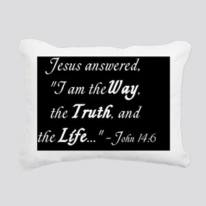 John 14:6 Rectangular Canvas Pillow