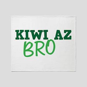 KIWI AZ Bro funny New Zealand saying Throw Blanket