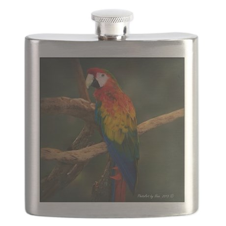 macaw Coaster Flask