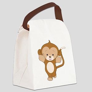 Monkey Boy 1 Canvas Lunch Bag