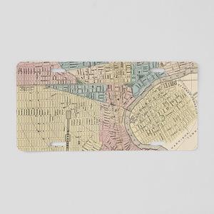 Vintage Map of Newark NJ (1 Aluminum License Plate