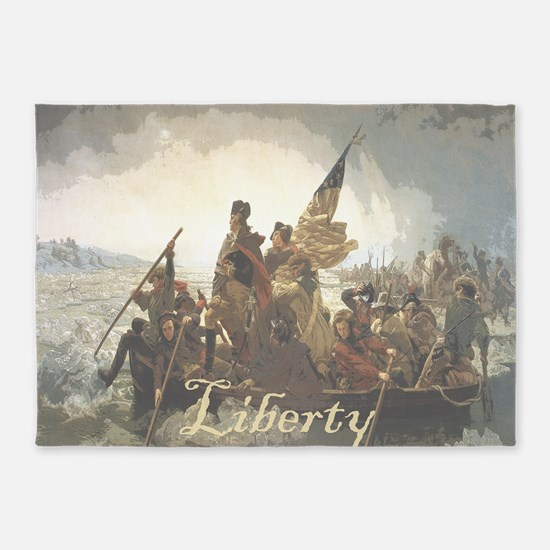 Crossing The Delaware Liberty 5'x7'Area Rug