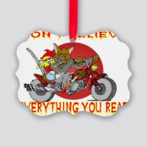 Big Bad Wolf Picture Ornament