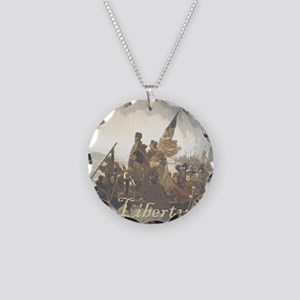 Crossing The Delaware Libert Necklace Circle Charm