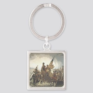 Crossing The Delaware Liberty Square Keychain