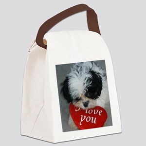 Chrissy ---I Love You Canvas Lunch Bag
