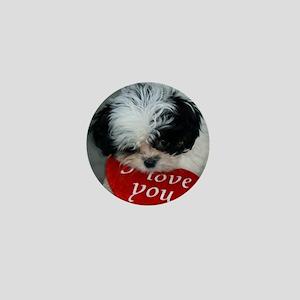 Chrissy ---I Love You Mini Button