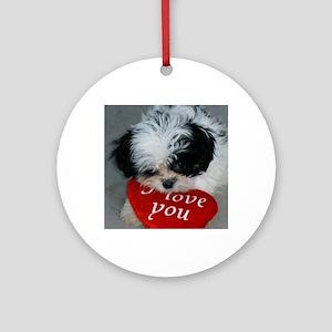 Chrissy ---I Love You Round Ornament