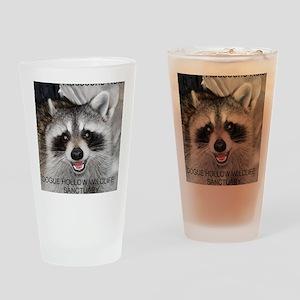 Peanut Raccoon Drinking Glass