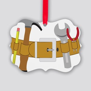 Handyman Tools Picture Ornament