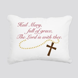 Rosary Rectangular Canvas Pillow
