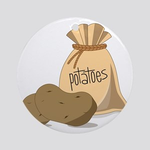 Potatoes Round Ornament