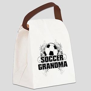 Soccer Grandma (cross) Canvas Lunch Bag