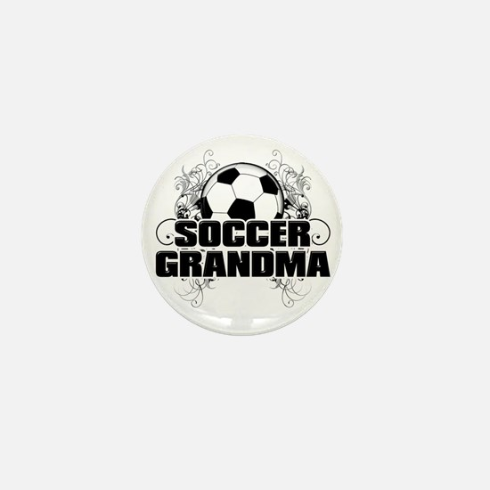 Soccer Grandma (cross) Mini Button