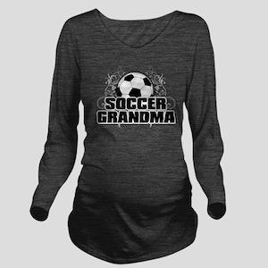 Soccer Grandma (cros Long Sleeve Maternity T-Shirt