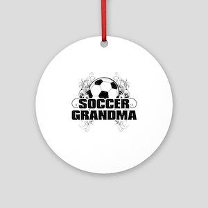 Soccer Grandma (cross) Round Ornament