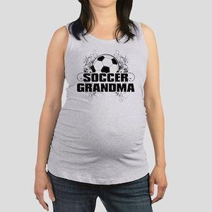 Soccer Grandma (cross) Maternity Tank Top