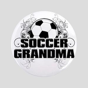 "Soccer Grandma (cross) 3.5"" Button"