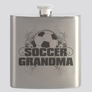 Soccer Grandma (cross) Flask
