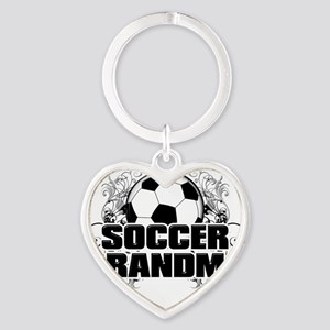 Soccer Grandma (cross) Heart Keychain