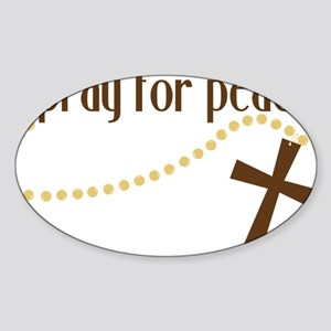 Pray For Peace Sticker (Oval)