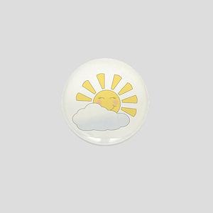 Smiling Sun Mini Button