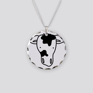 Cow Head Necklace Circle Charm