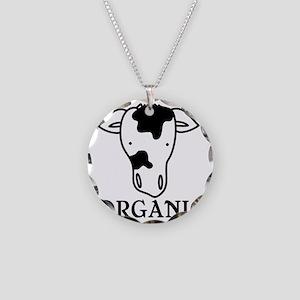 Organic Necklace Circle Charm