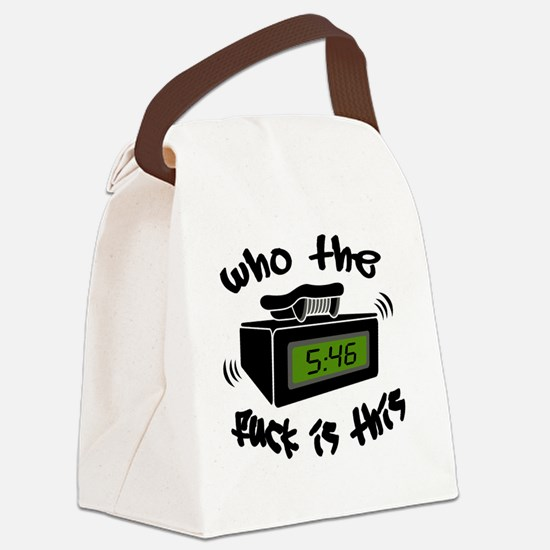 Page Me Canvas Lunch Bag
