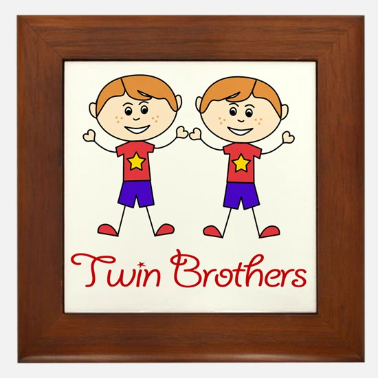 Twin Brothers Framed Tile