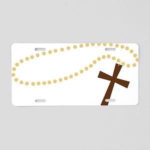 Christian Cross Aluminum License Plate