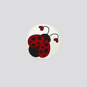 Ladybug Mini Button