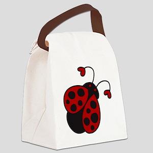 Ladybug Canvas Lunch Bag