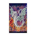 Dragon Fire Rectangle Sticker