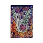 Dragon Fire Rectangle Magnet (10 pack)