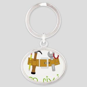Mr. Fix It Oval Keychain