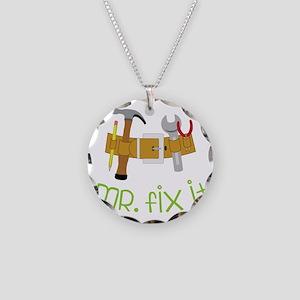 Mr. Fix It Necklace Circle Charm