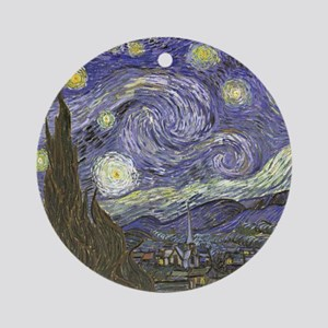 Van Gogh Starry Night Round Ornament