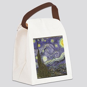 Van Gogh Starry Night Canvas Lunch Bag