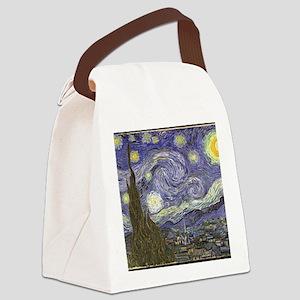 Van Gogh Starry Night Canvas Lunch Bag
