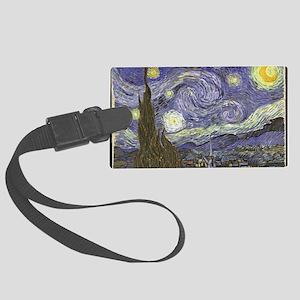 Van Gogh Starry Night Large Luggage Tag