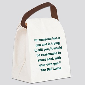 IF SOMEONE HAS A GUN AND IS TRYIN Canvas Lunch Bag