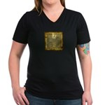 Celtic Letter H Women's V-Neck Dark T-Shirt