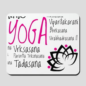 Namaste Yoga Asanas Poses Mousepad