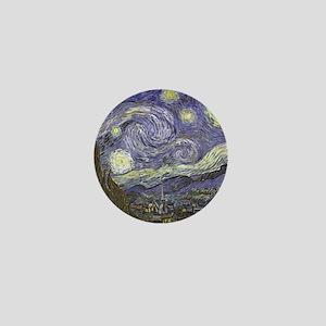 Van Gogh Starry Night Mini Button